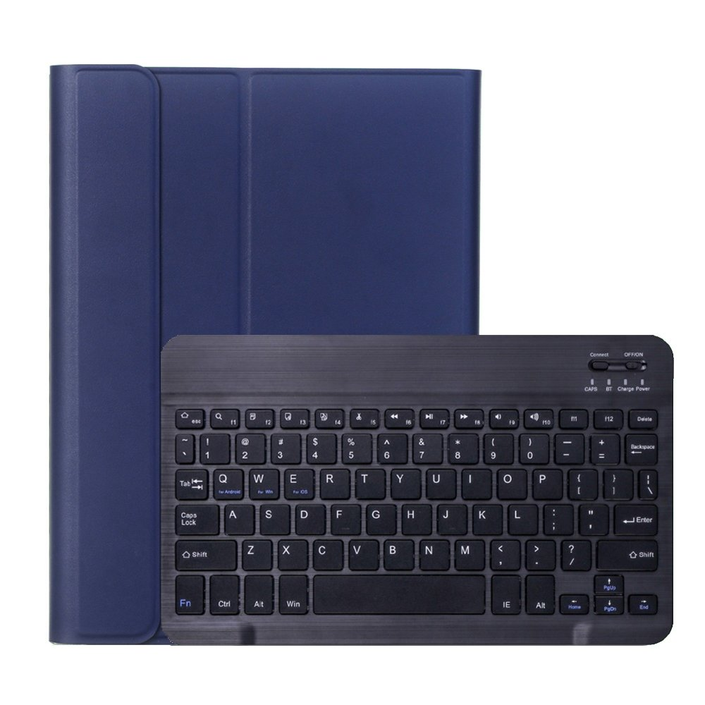 Shop4 iPad 10.2 (2019) Toetsenbord Hoes Bluetooth Keyboard Cover Donker Blauw
